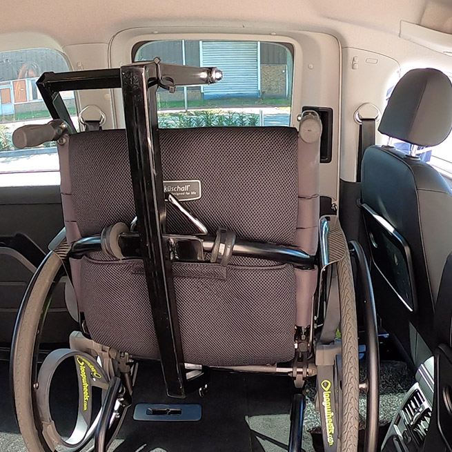 Weersink rolstoel opbergen rolstoellift spin prijs takelen in de auto