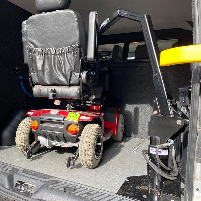 Weersink Scootmobiel opbergen achterin bus lift kofferbak ruimtebesparend prijs