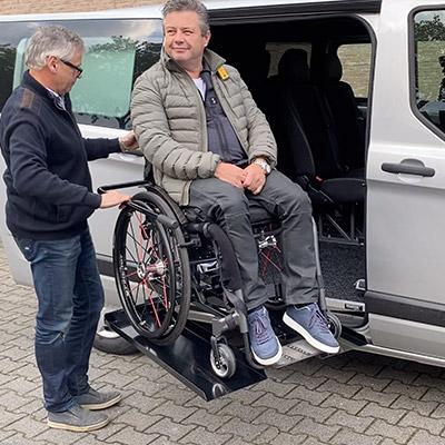 Weersink rolstoellift rolstoel voor normale rolstoelen