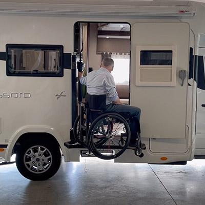 Rolstoelcamper invalidenlift rolstoel Benica