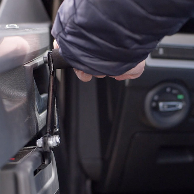 Fadiel italiana Weersink hand gas remsysteem hendel